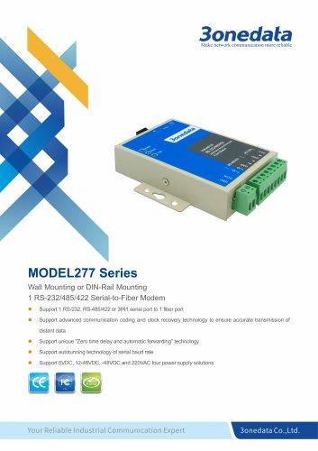 3onedata | MODEL277 | 1-port RS-232/485/422 to Fiber Converter