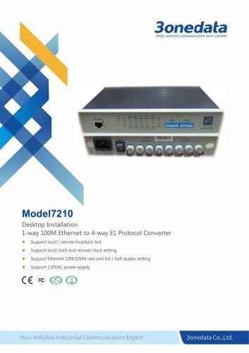 3onedata | Model7210 | 10/100M Ethernet to 4×E1 Bridge