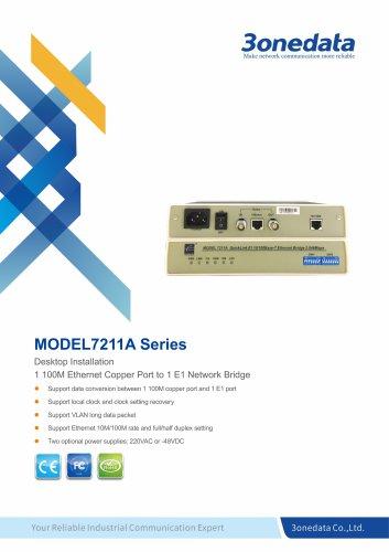 3onedata | Model7211A | 10/100M Ethernet to E1 Bridge