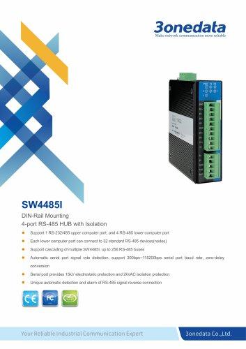 3onedata | SW4485I | RS-232/485 to 4-port RS-485 Hub