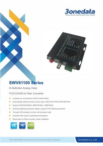 3onedata | SWV61100 |1-Channel TVI/CVI/AHD Video to Fiber Converter
