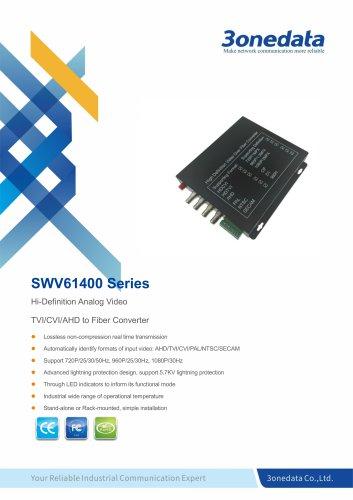 3onedata | SWV61400 | 4-Channel TVI/CVI/AHD Video to Fiber Converter
