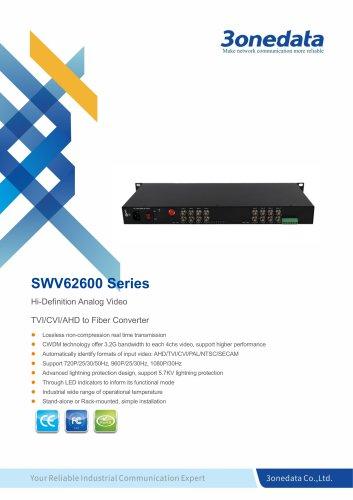 3onedata | SWV62600 | 16-Channel TVI/CVI/AHD Video to Fiber Converter