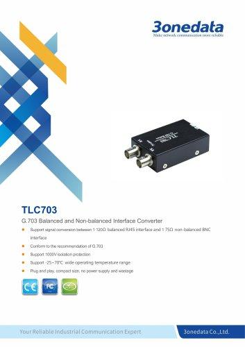 3onedata | TLC703 | G.703 Balance to Unbalance Converter