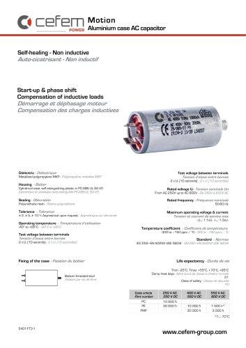 Aluminium case AC capacitor