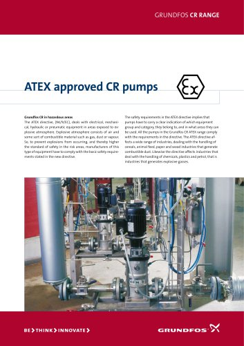 ATEX approved CR pumps
