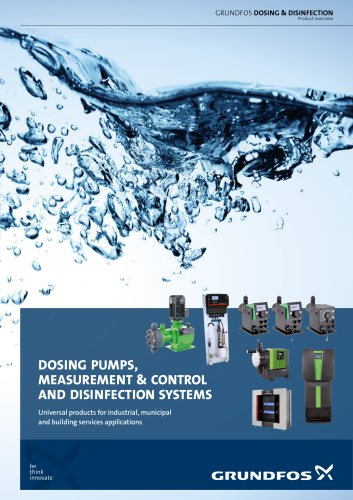 Dosing pumps, measurement & control, and disinfection systems