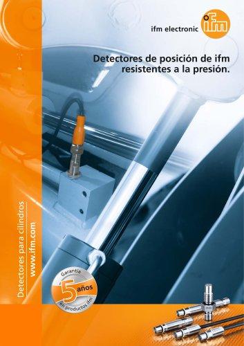 Detectores de posición de ifm resistentes a la presión.