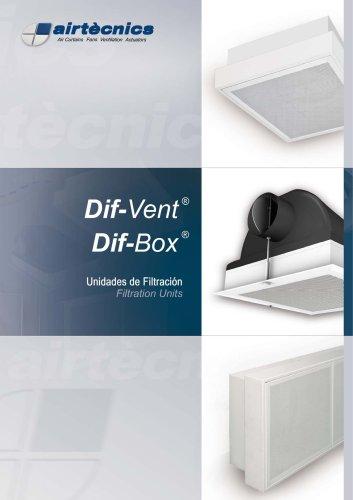 Unidades de Filtración - Dif-Vent/Dif-Box