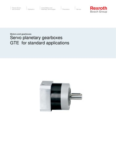 Servo planetary gearboxes GTE    for standard applications