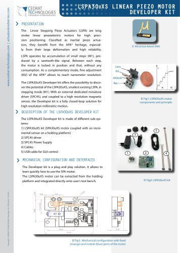 LSPA30uXS Linear Piezo Motor Developer Kit