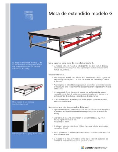 Spreading Table Model G