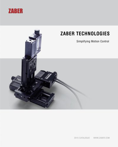 Zaber 2015 Catalogue