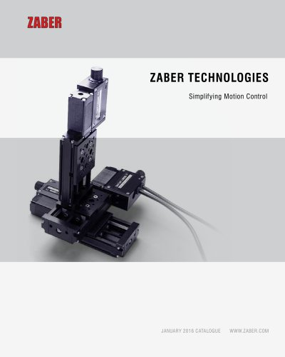Zaber's 2016 Catalogue