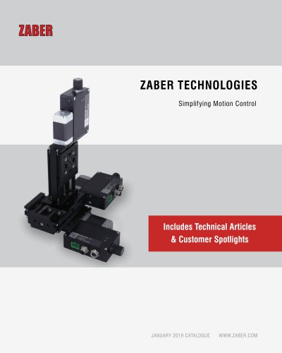 Zaber's 2019 Catalogue