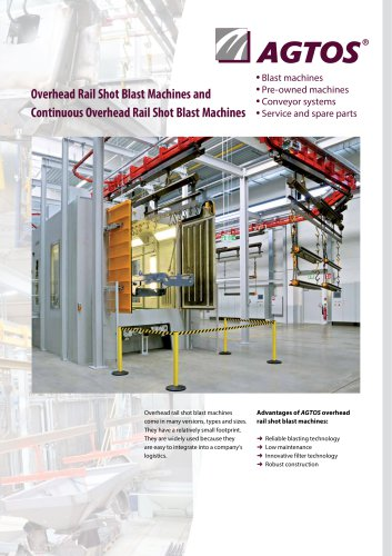Overhead Rail Shot Blast Machines + Continuous Overhead Rail Shot Blast Machines
