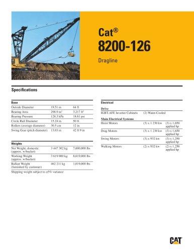 Cat® 8200-126 Dragline