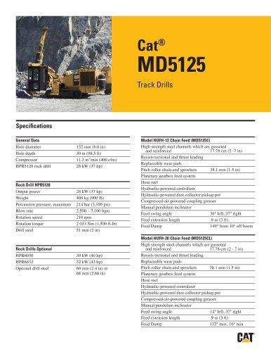 Cat® track drills MD5125