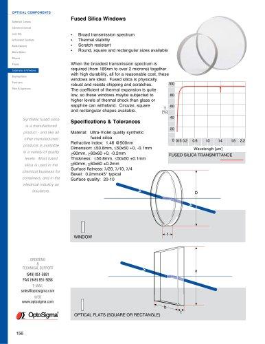 Fused Silica Windows, Circular / Fused Silica Window / 045-0305