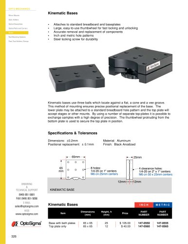 Kinematic Bases / Kinematic Base / 147-0550