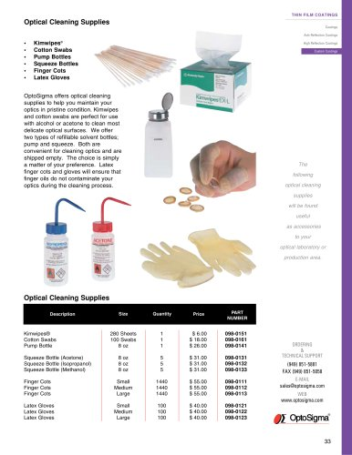 Optical Cleaning Supplies