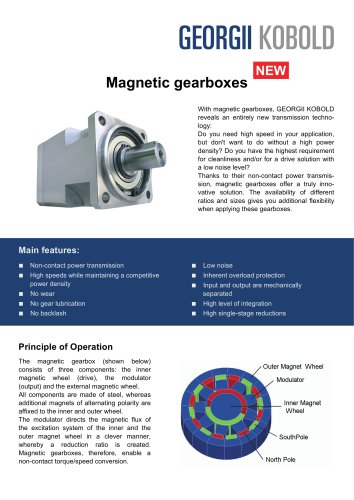 KOMPASS Magnetically-geared Motors