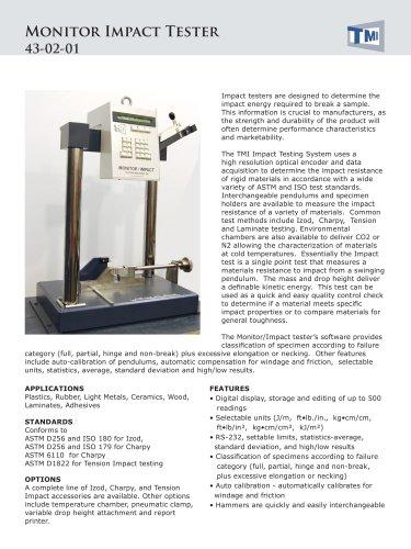 43-02 Monitor Impact Tester