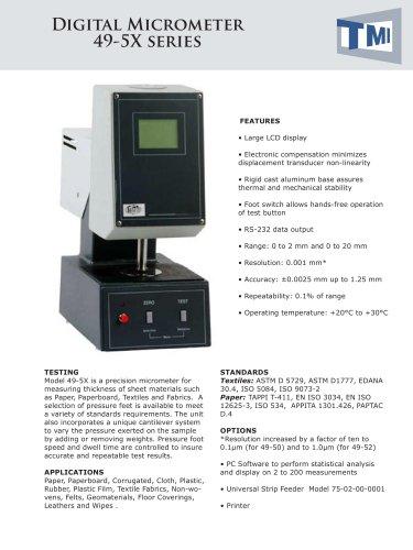 49-50 Digital Micrometer