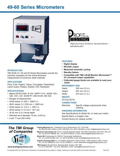 49-60 Digital Micrometer