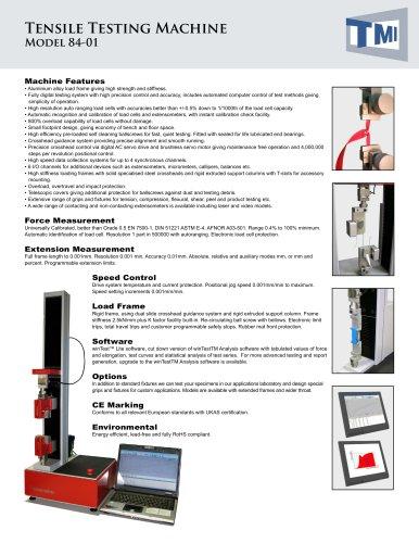 84-01 Tensile Testing Machine