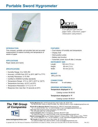 Portable Sword Hygrometer