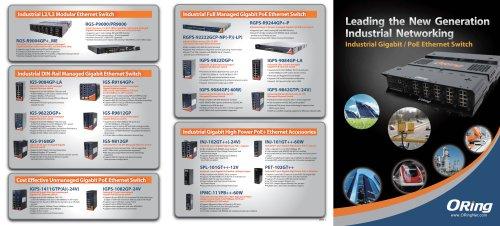 Industrial Gigabit/PoE Ethernet Switch
