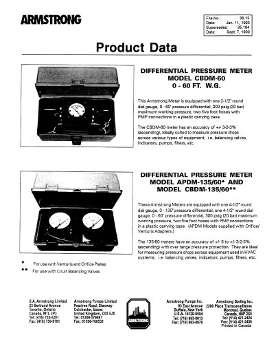 Differential Pressure Meters