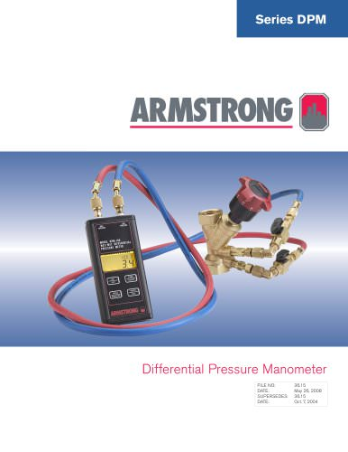 Series DPM Differential Pressure Manometer