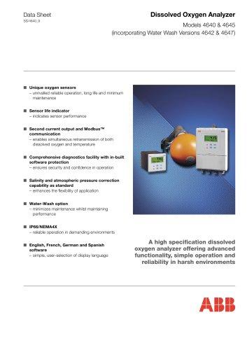 Dissolved Oxygen Analyzer Models 4640 & 4645