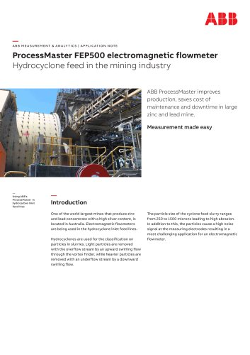 ProcessMaster FEP500 electromagnetic flowmeter