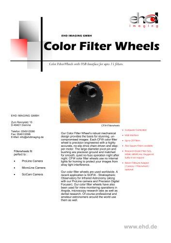 Color Filter Wheels