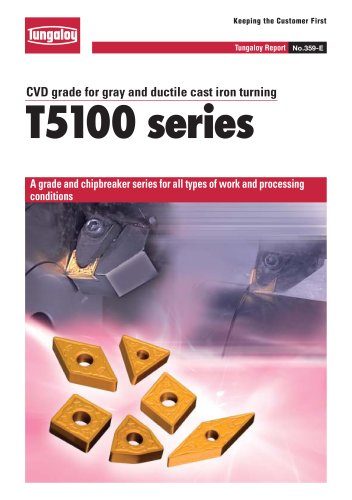 CVD grade for gray and ductile cast iron turning   T5100 series