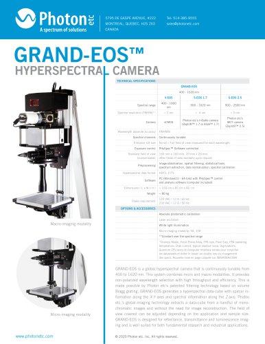 GRAND-EOS™ - VIS-SWIR Hyperspectral Camera