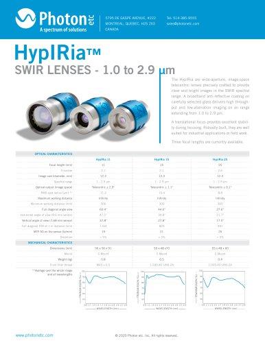 HYPIRIA™ - SWIR Telecentric Lenses