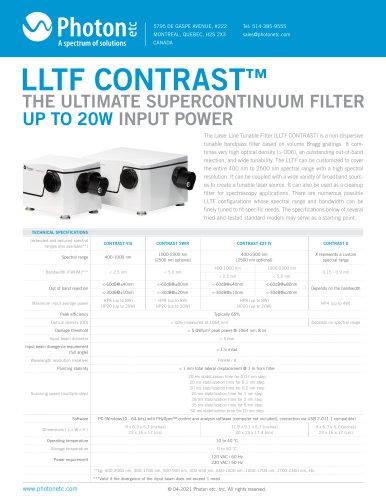 LLTF CONTRAST - Laser Line Tunable Filter