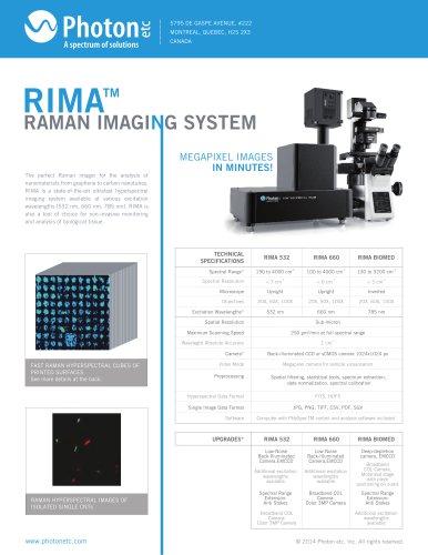 RIMA RAMAN IMAGING SYSTEM