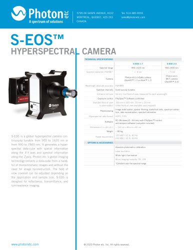 S-EOS™ - SWIR Hyperspectral Camera