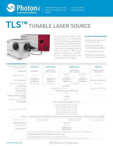 TLS - Tunable Laser Source