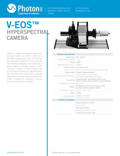 V-EOS™ - Visible Hyperspectral Camera