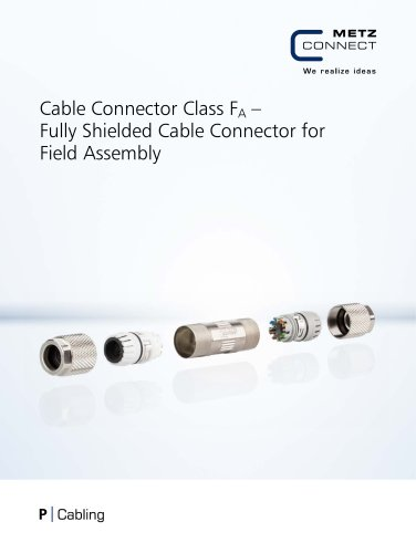 P|Cabling - Cable Connector Class FA – Fully Shielded Cable Connector for Field Assembly