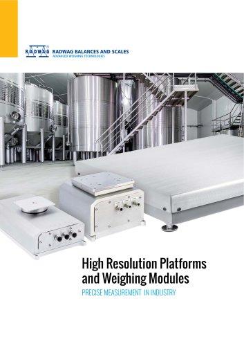 HRP platforms and weighing modules