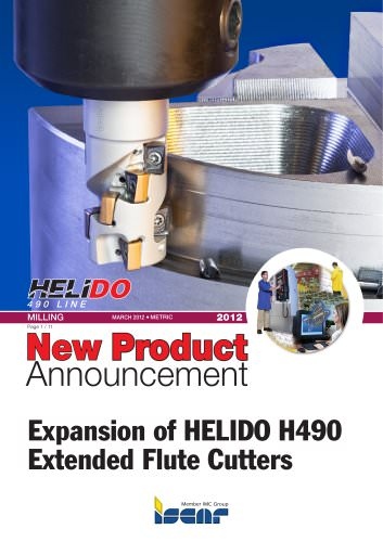 Expansion of HELIDO H490 Extended Flute Cutters
