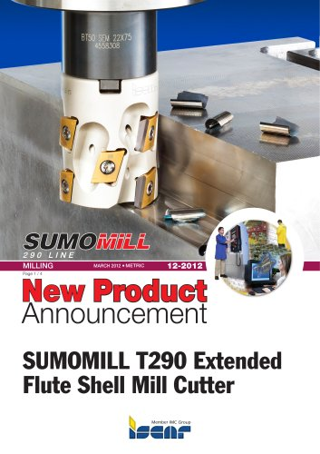 SUMOMILL T290 Extended Flute Shell Mill Cutter