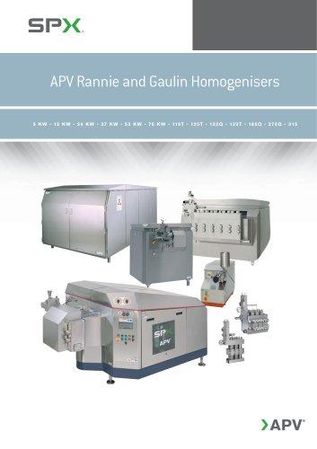 APV Rannie and Gaulin Homogenisers